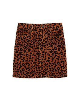 BLANKNYC - Girls' Leopard Print Corduroy Skirt - Big Kid