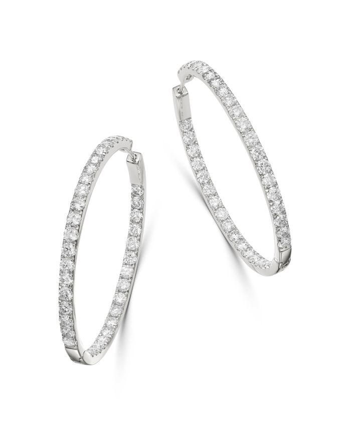 Bloomingdale's Diamond Inside Out Hoop Earrings in 14K White Gold, 2.90 ct. t.w. - 100% Exclusive  | Bloomingdale's