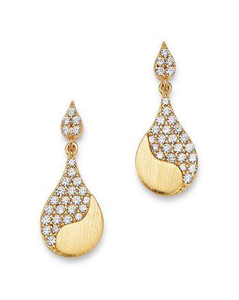 Bloomingdale's - Pavé Diamond Drop Earrings in 14K Satin Yellow Gold, 0.50 ct. t.w. - 100% Exclusive