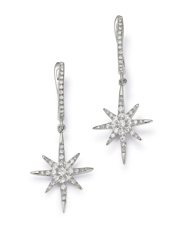 Bloomingdale's Micro-Pavé Diamond Starburst Drop Earrings in 14K White Gold, 0.30 ct. t.w. - 100% Exclusive  | Bloomingdale's