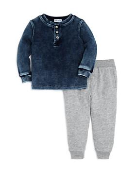 Splendid - Boys' Waffle-Knit Henley Tee & Jogger Pants Set - Baby