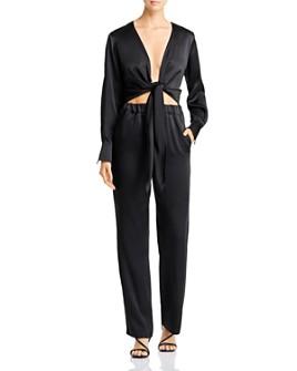 Carolina Ritzler - Romy Tie-Front Jumpsuit