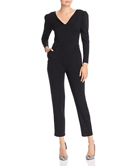 AQUA - Long-Sleeve V-Neck Jumpsuit - 100% Exclusive