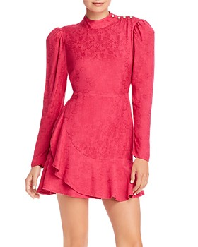 Rahi - Medina Sophie Ruffled Floral Jacquard Mini Dress