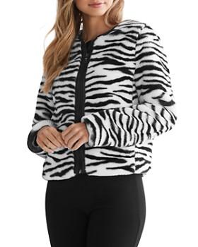Bailey 44 - Sullivan Zebra-Stripe Faux Fur Jacket - 100% Exclusive