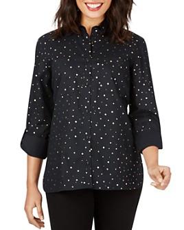Foxcroft - Waverly Foil Dot Button-Front Shirt