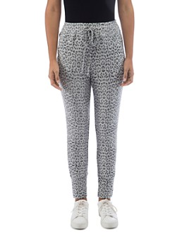 B Collection by Bobeau - Brushed Leopard Jogger Pants