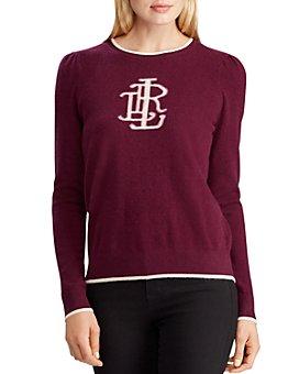Ralph Lauren - Washable Cashmere Monogram Sweater - 100% Exclusive