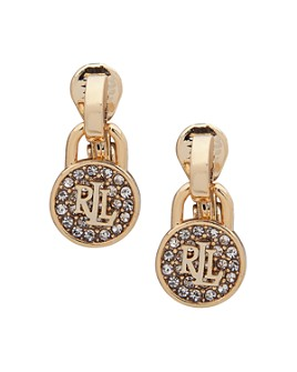 Ralph Lauren - Padlock Drop Clip-On Earrings