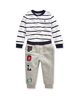 Ralph Lauren - Boys' Striped Henley Tee & Polo Jogger Pants Set - Baby
