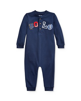 Ralph Lauren - Boys' Polo Henley Coverall - Baby