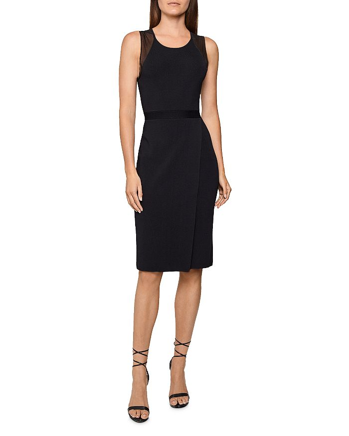 REISS - Leila Sheer-Inset Dress