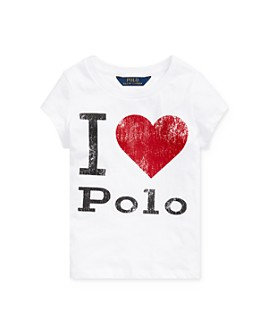 Ralph Lauren - Girls' I Heart Polo Tee - Little Kid