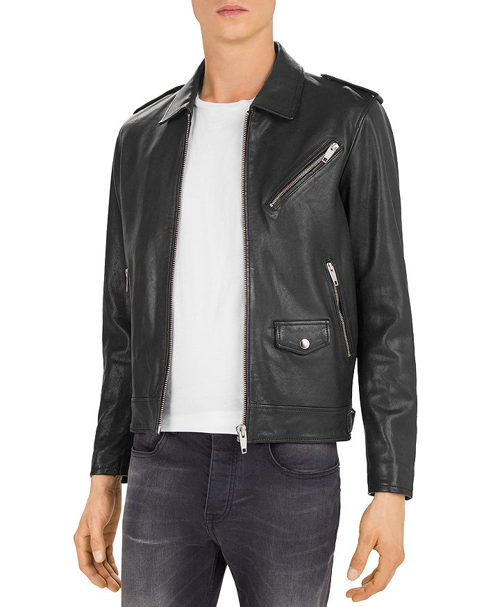 The Kooples - Washed Lamb Leather Jacket