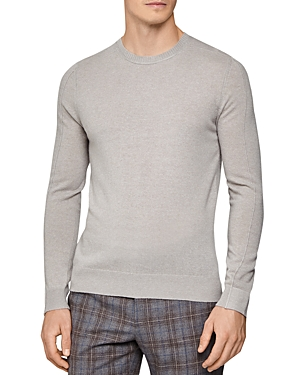 Reiss Sweaters JINKS REVERSE-SEAM WOOL & CASHMERE CREWNECK SWEATER