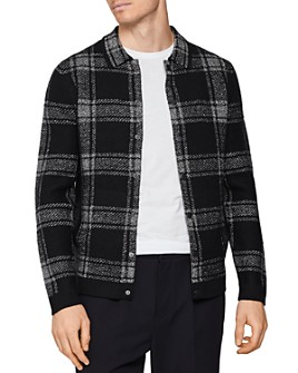 REISS - Checked Cotton & Wool Regular Fit Overshirt