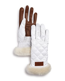 UGG® - UGG® Quilted Shearling-Cuff Tech Gloves