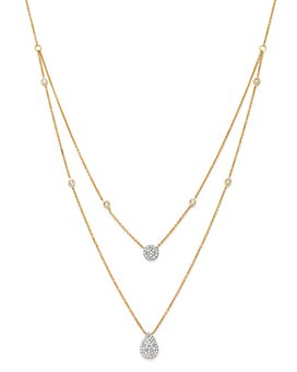 Moon & Meadow - Diamond Layered Necklace in 14K Yellow Gold, 0.36 ct. t.w. - 100% Exclusive