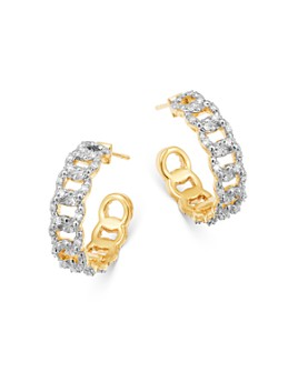 Moon & Meadow - Diamond Cable Hoop Earrings in 14K Yellow Gold, 0.2 ct. t.w. - 100% Exclusive