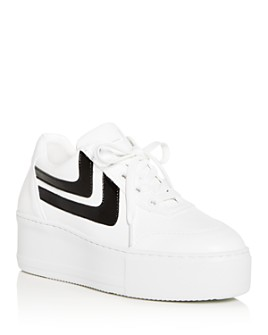 Joshua Sanders - Women's Platform Low-Top Sneakers