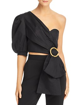 Acler - Glendale Draped Bustier Crop Top
