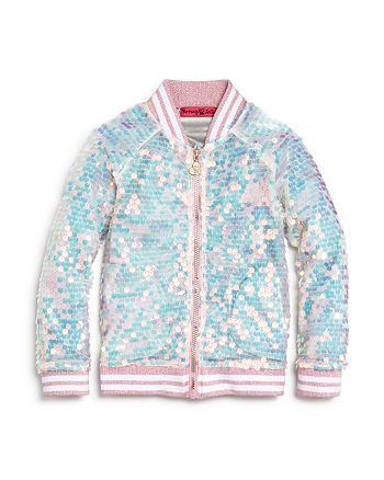 JOJO SIWA by BETSEY JOHNSON - Girls' Sequin Bomber Jacket, Big Kid - 100% Exclusive