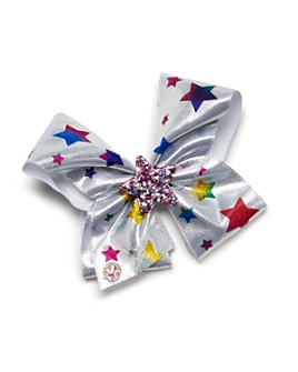 JOJO SIWA by BETSEY JOHNSON - Girls' Star Print Metallic Bow - 100% Exclusive