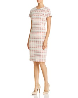 BOSS - Decka Plaid Sheath Dress