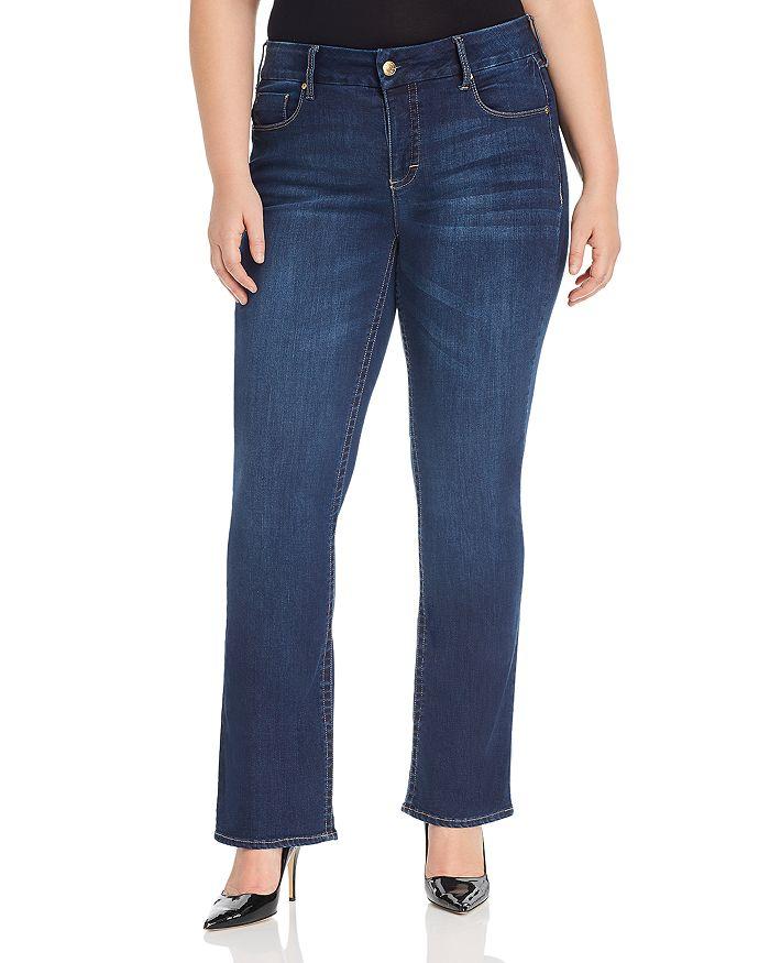 Seven7 Jeans Plus - Lia Tummyless Micro-Bootcut Jeans in Atlantis