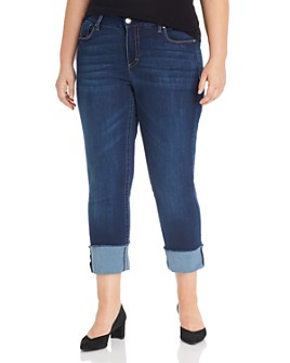 Seven7 Jeans Plus - Lia Tummyless Slim-Straight Jeans in Atlantis