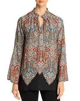 Single Thread - Paisley Ruffled-Collar Blouse