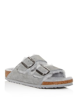 Birkenstock - Women's Arizona Shearling Slide Sandals
