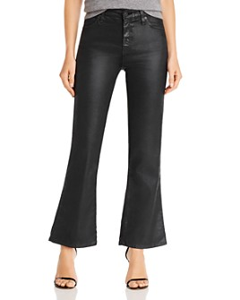 AG - Quinne Hi-Rise Flare Crop Faux Leather Pants