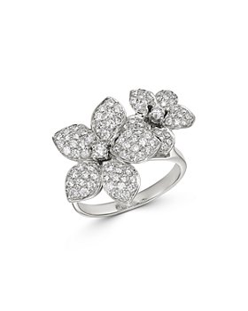 Bloomingdale's - Pavé Diamond Flower Ring in 14K White Gold, 1.0 ct. t.w. - 100% Exclusive