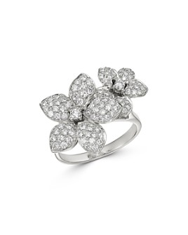 Bloomingdale's - Pave Diamond Flower Ring in 14K White Gold, 1.0 ct. t.w. - 100% Exclusive
