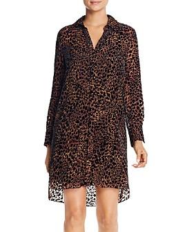 Elie Tahari - Juliet Leopard Velvet Burnout Dress
