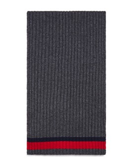 The Men's Store at Bloomingdale's - Striped Ribbed Scarf - 100% Exclusive