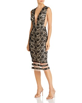 SAU LEE - Kendall Lace Midi Dress