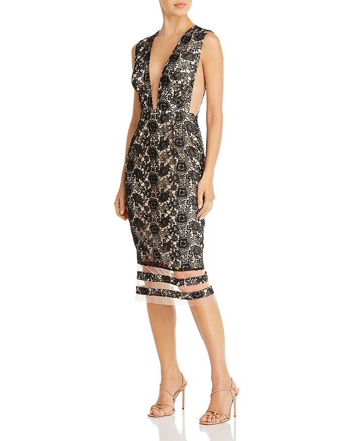 SAU LEE - Kendall Lace Midi Dress
