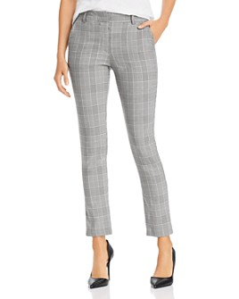 AQUA - Slim Plaid Pants - 100% Exclusive
