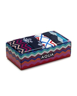 AQUA - Ski Graphic Socks, Set of 4 - 100% Exclusive