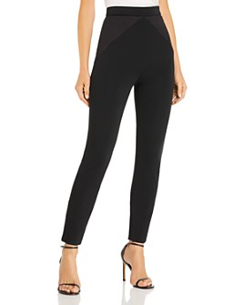 Cushnie - High-Rise Cropped Satin-Inset Pants