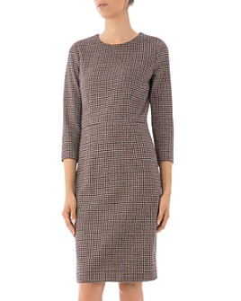 Peserico - Seamed Houndstooth Dress