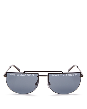 Marc Jacobs Sunglasses WOMEN'S FLAT TOP BROW BAR RIMLESS AVIATOR SUNGLASSES, 56MM