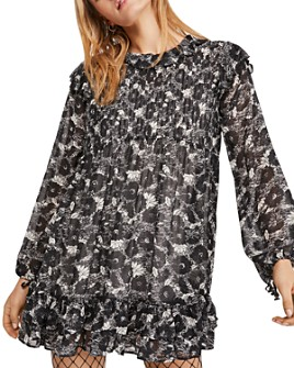 Free People - These Dreams Ruffled Floral Mini Dress