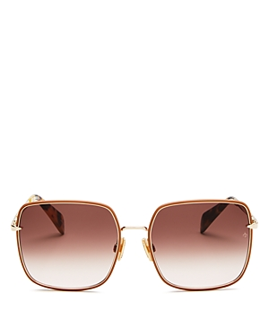 rag & bone Women\\\'s Square Sunglasses, 58mm