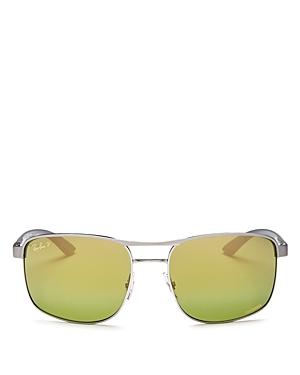 Ray-Ban Men's Chromance Polarized Brow-Bar Aviator Sunglasses, 58mm