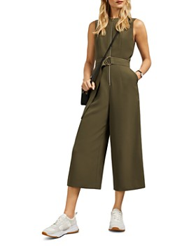 Ted Baker - Volenti Zippered Belted Jumpsuit