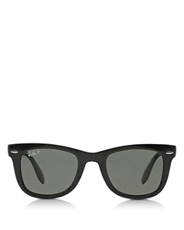 Ray-Ban - Unisex Folding Polarized Wayfarer Sunglasses, 50mm