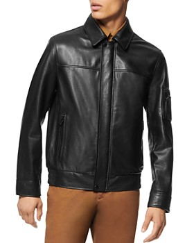Andrew Marc - Balthazar Leather Bomber Jacket